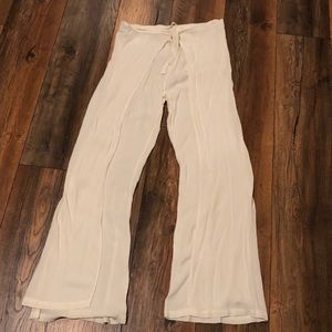 Vanilla Star Boho wide leg wrap pants Large